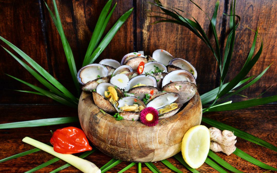 Blaff d'amandes de mer, au gingembre et à la citronnelle